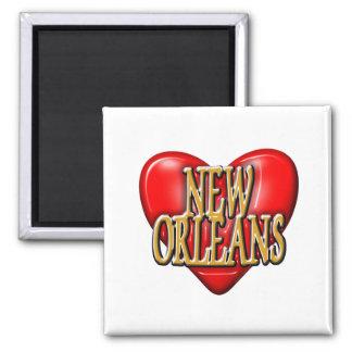 I LoveNew Orleans 2 Inch Square Magnet