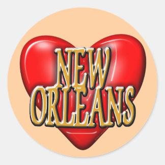 I LoveNew Orleans Round Stickers
