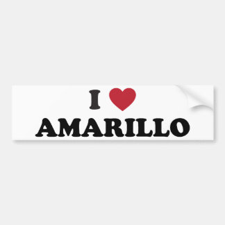 I Lover Amarillo Texas Car Bumper Sticker