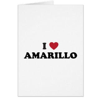 I Lover Amarillo Texas Greeting Card