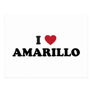 I Lover Amarillo Texas Postcard