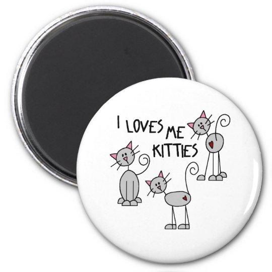I Loves Me Kitties Magnet