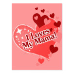 I Loves My Mama! Mother's Day Postcard