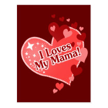I Loves My Mama! Postcard