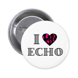 I LubDub Echo Hot Pink Button