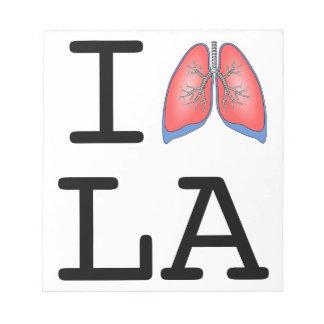 I Lung L.A. (Los Angeles Smog Joke) Memo Notepads