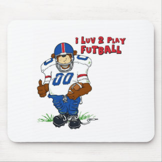 I Luv 2 Play Futball Bear Mouse Pad