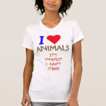 I LUV ANIMALS TSHIRTS