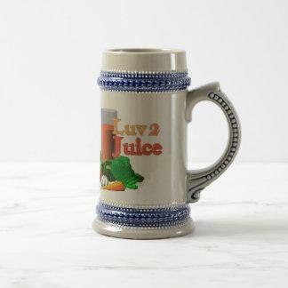 I Luv Apple Juice on 100+items by valxart.com Beer Stein