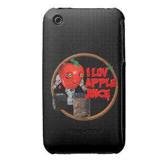 I Luv Apple Juice on 100+items by valxart.com iPhone 3 Case-Mate Cases