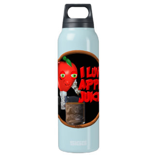 I Luv Apple Juice on 100+items by valxart.com Insulated Water Bottle