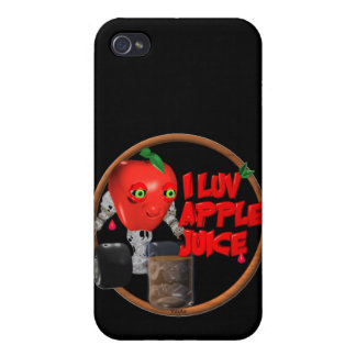 I Luv Apple Juice on 100+items by valxart.com iPhone 4/4S Covers