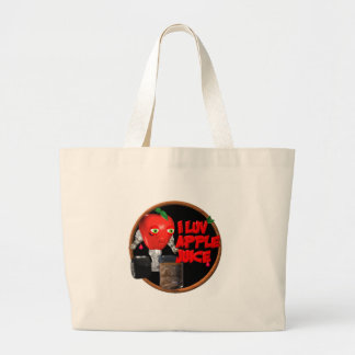 I Luv Apple Juice on 100+items by valxart.com Large Tote Bag