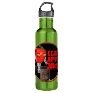 I Luv Apple Juice on 100+items by valxart.com Stainless Steel Water Bottle