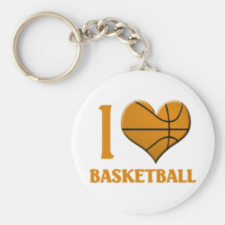I Luv Basketball Keychain