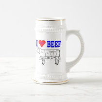 I LUV BEEF BEER STEIN