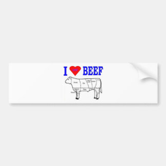 I LUV BEEF BUMPER STICKERS