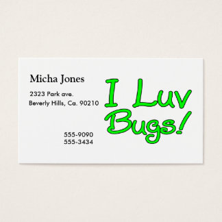 I Luv Bugs Business Card