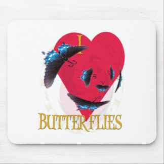 I LUV BUTTERFLIES MOUSE PAD