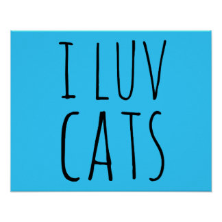 I Luv Cats Poster
