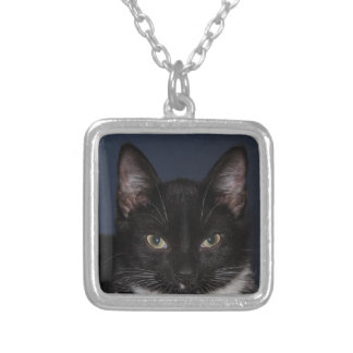 I LUV CATZ SILVER PLATED NECKLACE