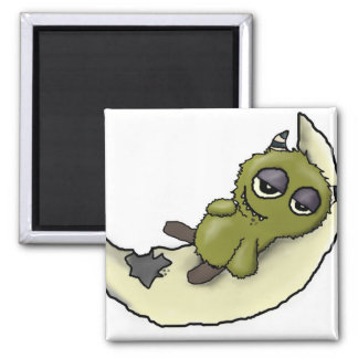 I luv cheese Monster digital art Magnet