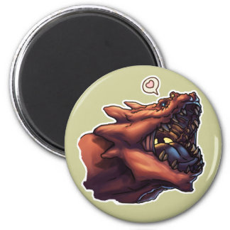 I Luv Dragons 2 Inch Round Magnet