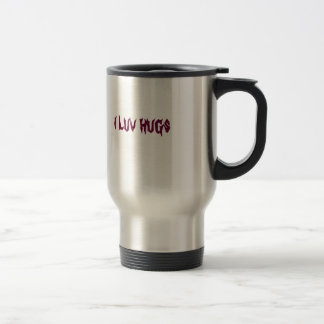 i luv hugs travel mug
