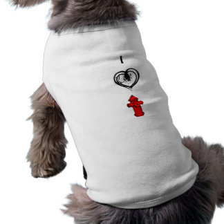 I Luv Hydrant Clipart Pet Clothing