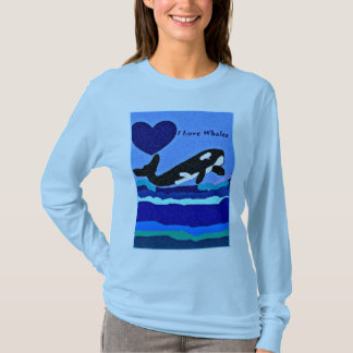I Luv Killer Whales long sleeve t shirt
