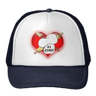 I Luv mi gorra del cocinero