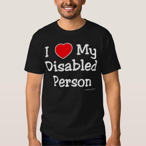 I Luv mi persona discapacitada (luz) Polera