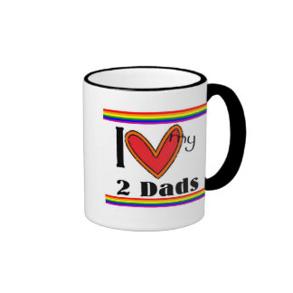 I luv my 2 dads mug