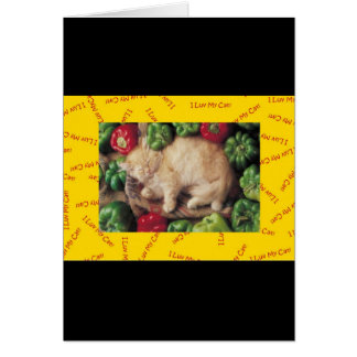 I LUV MY CATS - SERIES GREETING CARD