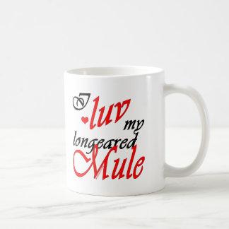 I Luv My Longeared Mule Classic White Coffee Mug
