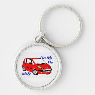I Luv My Pug 1007 keychain red