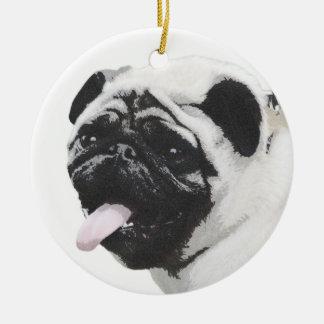 I Luv My Pug Christmas Ornament