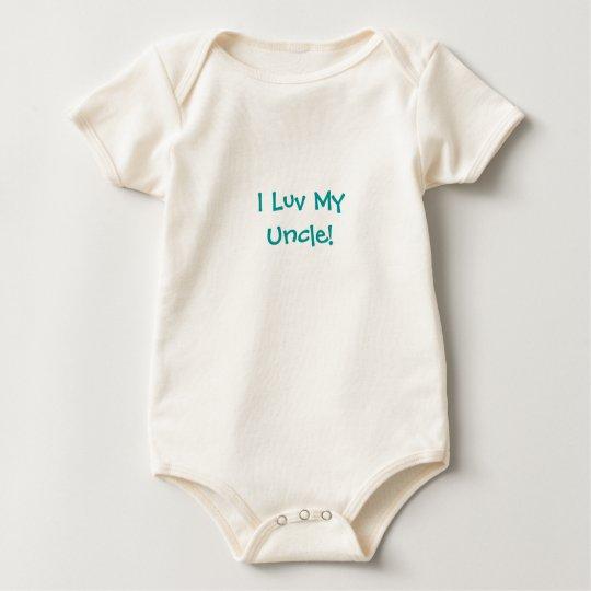 I Luv MyUncle! Onsie Baby Bodysuit