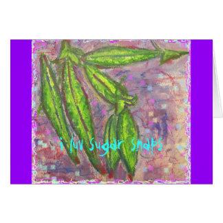 i luv sugar snaps card