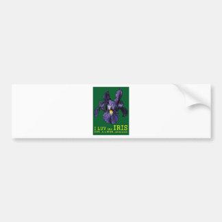I LUV the IRIS Bumper Sticker