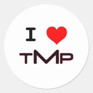 I LUV TMP (white) Classic Round Sticker