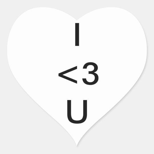 I Luv U Heart Sticker