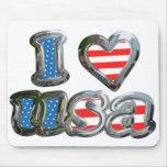 I Luv USA Mouse Pads