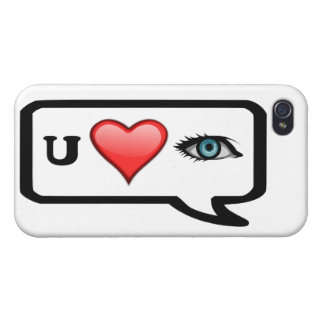 I Luv usted caso de Iphone 4 del mensaje de Selfie iPhone 4/4S Carcasa