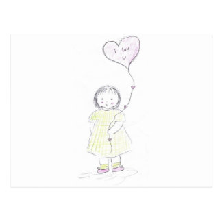 I luv you balloon (mother's day) postcard