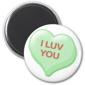 I Luv You Candy Heart Magnet
