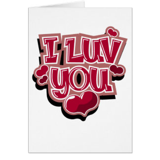 I Luv You card