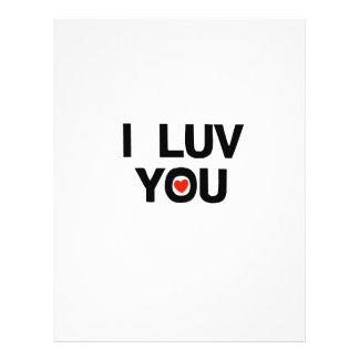I luv you full color flyer