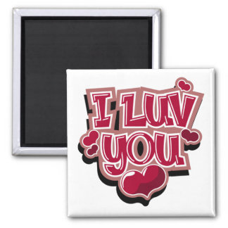 I Luv You magnet