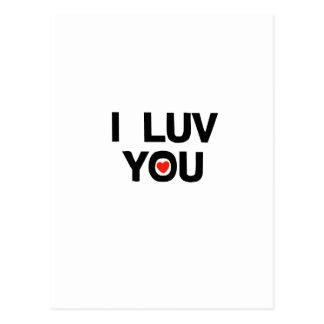 I luv you postcard